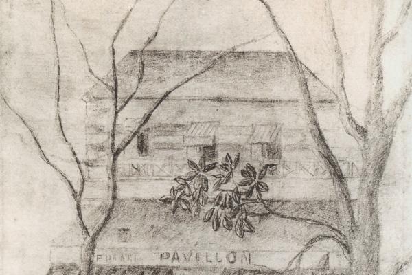 Henri Rousseau. The lake pavilion