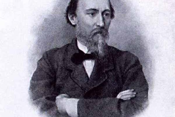 Иван Петрович Пожалостин. Портрет Н.А.Некрасова.1878 гравюра