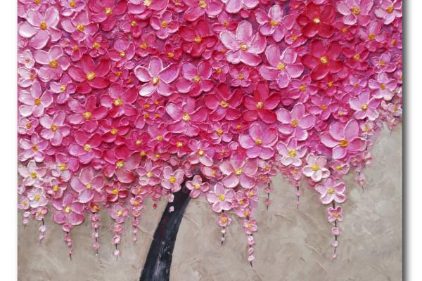 Yury Semenovich Kuleshov. Blooming cherry tree