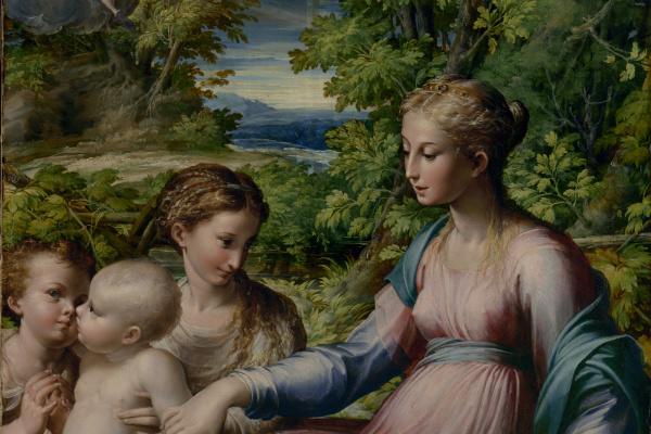 Франческо Пармиджанино. Богоматерь с младенцем, святым Иоанном Крестителем и Марией Магдалиной