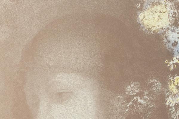 Одилон Редон. Детская головка в цветах