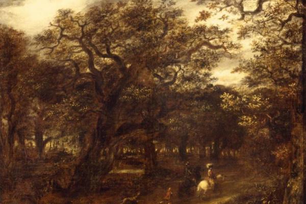 Ян Ливенс. Лесной пейзаж