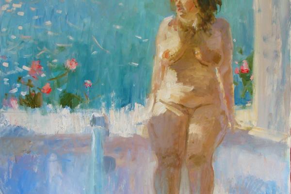 Альберт Анатольевич Щитков. Ванная комната с видом на море