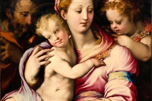 Francesco Salviati. Holy family and John the Baptist