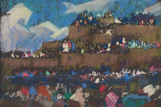 Julius Rolshoven. Fiesta in Taos