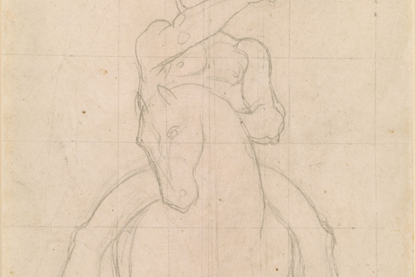 """Jean Auguste Dominique Ingres. Study for the painting """"the Martyrdom of St. Symphorian"""""""