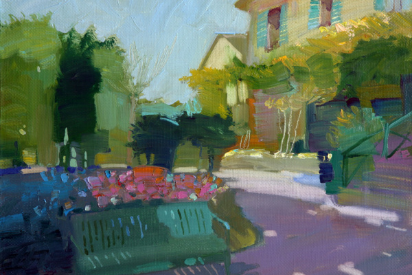 Alexander Valerievich Sushchin. Giverny. Glare on the ground.