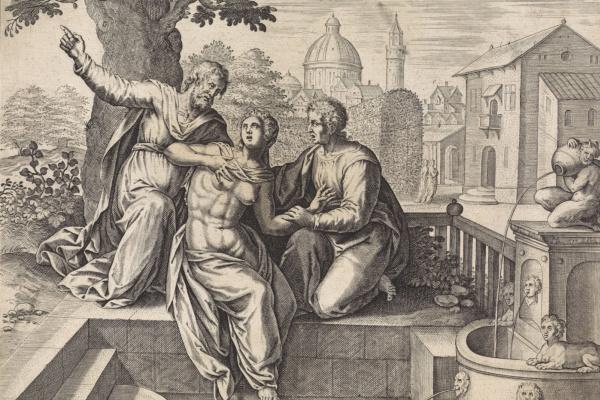 Hans Collaert. Susanna and the Elders