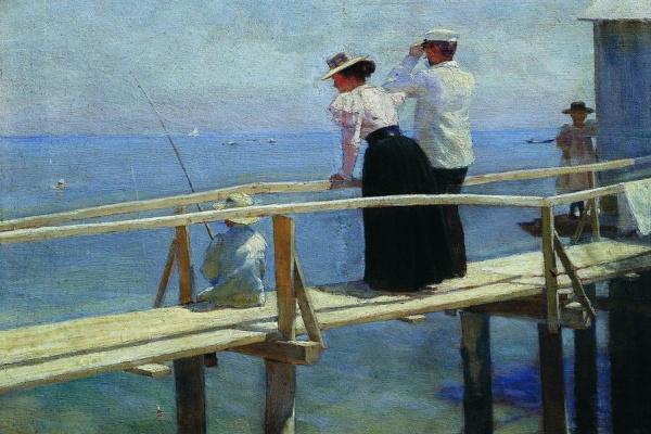 Петр Александрович Нилус (Словецкий). На мостике