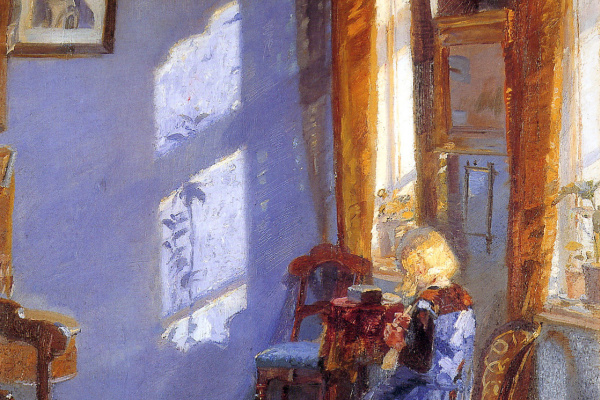 Анна Анкер. Солнечный свет в синей комнате