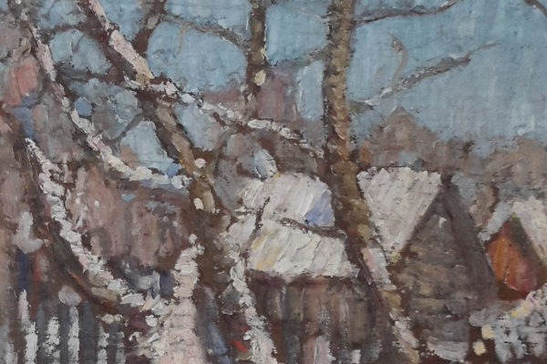 Роберт Рафаилович Фальк. Зимний пейзаж в Покрове