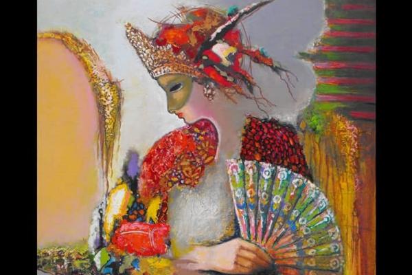 Serhach. Masked lady