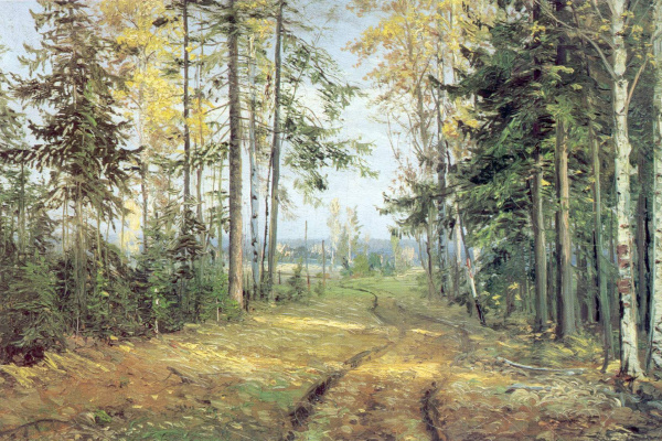 Николай Николаевич Ге. Дорога в лесу