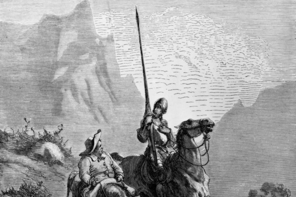 Paul Gustave Dore. Illustration to M.Servantes' novel Don Quixote of La Mancha