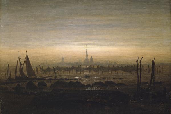 Caspar David Friedrich. Greifswald in moonlight