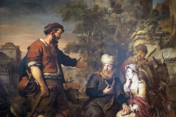 Гербранд Янс ван ден Экхаут. Приглашение на ночлег жителем города Гивы Левита и его наложницы