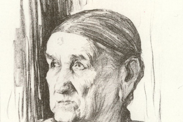Lev Samoilovich Bakst (Leon Bakst). Old. Portrait of Sergei Diaghilev nanny Avdotya Alexandrovna