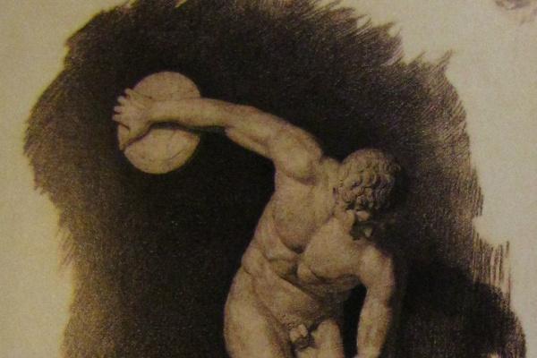 Валентин Александрович Серов. Дискобол. Рисунок в классе гипсовых фигур
