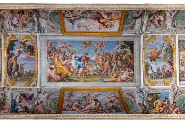 Агостино Карраччи. Цикл фресок «Любовь Богов» (фрагмент)