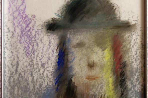 Леон Гиршевич Нисенбаум. Мужской портрет в шляпе