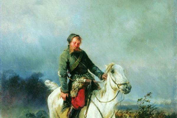 Николай Егорович Сверчков. Возвращение с охоты.