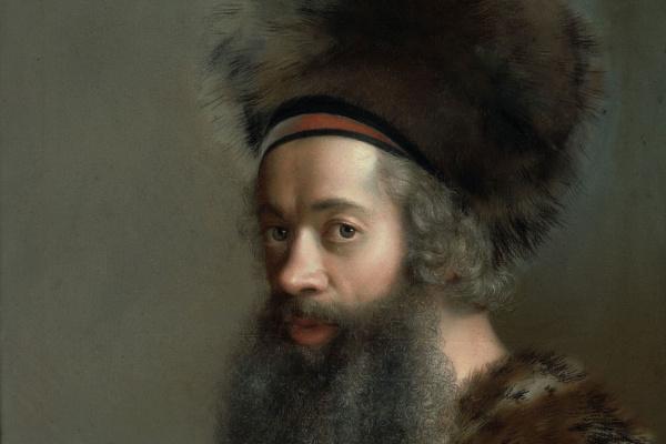Jean-Etienne Liotard. Selbstbildnis in türkischer Tracht