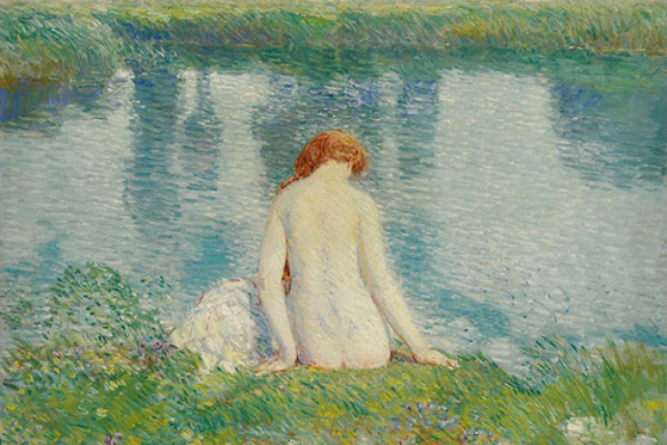 Childe Hassam. Bathers and Cloud Reflections