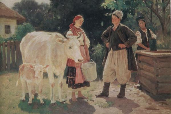Николай Корнильевич Пимоненко. Соперницы у криницы