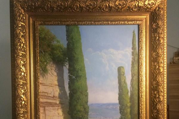 Dmitry Gennadyevich Markov. Cypresses. Montserrat. Spain.