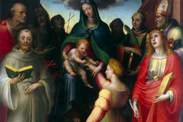 Domenico Beccafumi. The Betrothal Of St. Catherine