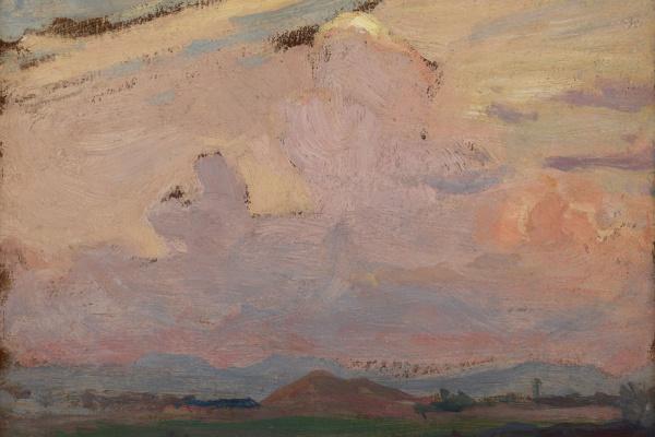 Jan Stanislavsky. Landscape with clouds. Tynets