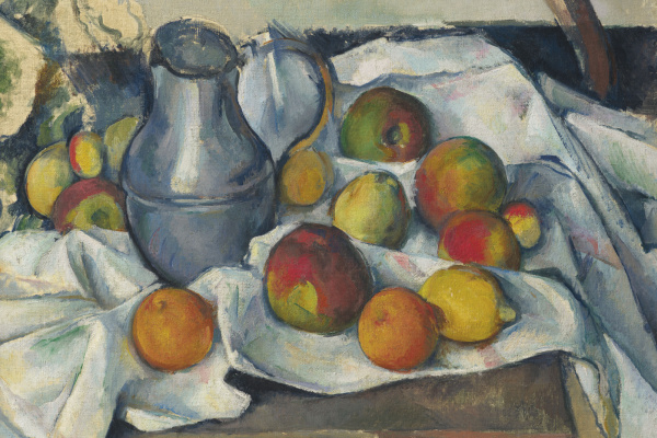 Paul Cezanne. Jug and fruit