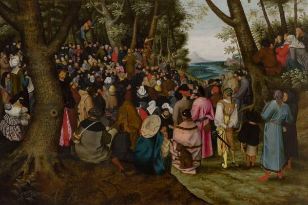Peter Brueghel The Younger. Sermon of John the Baptist
