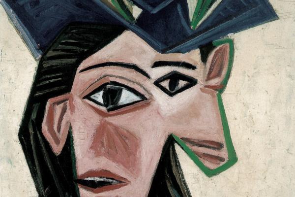 Pablo Picasso. Buste de femme au chapeau (Dora)
