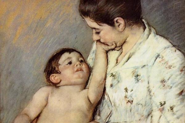 Мэри Кассат. Первая ласка малыша