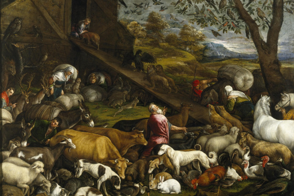 Якопо да Понте Бассано. Восхождение животных на Ноев ковчег