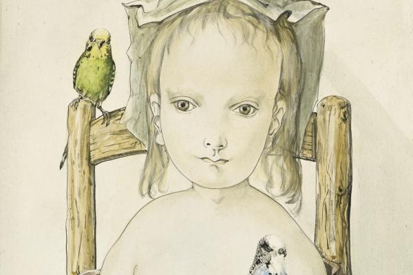 Цугухару Фудзита ( Леонар Фужита ). Девушка с попугаями