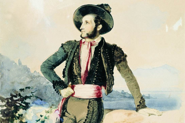 Vasily Sternberg. Ivan Aivazovsky in the Italian suit