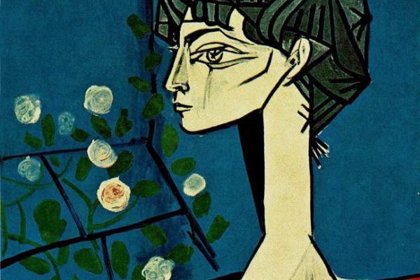 Пабло Пикассо. Жаклин с цветами