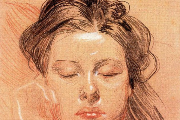 Frantisek The Kupka. The face of a sleeping