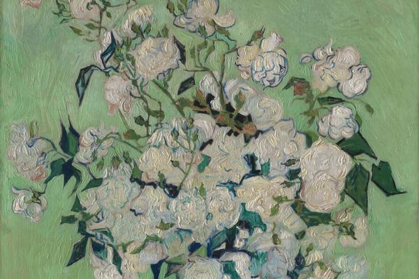 Винсент Ван Гог. Розы в вазе