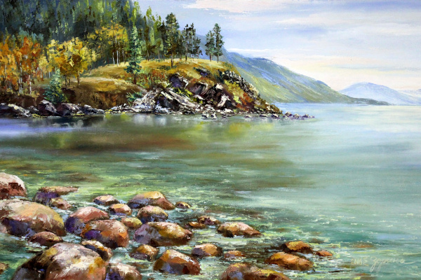 Elena Nikolaevna Zorina. Rocky shores