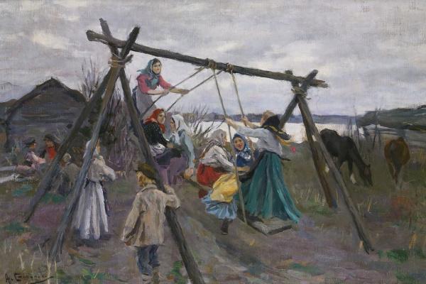 Алексей Степанович Степанов. Деревенские качели