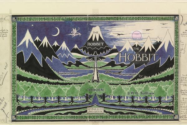 John Ronald Reuel Tolkien. Dust jacket for The Hobbit