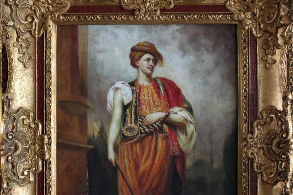 Неизвестный  художник. (Рембрандт) Портрет Мартена Сулманса в восточном костюме