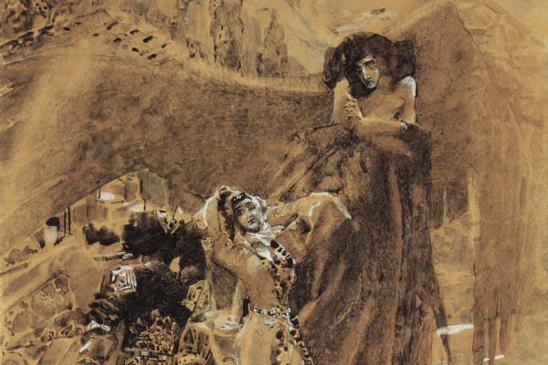 "Mikhail Aleksandrovich Vrubel. Dance Tamara. Illustration to the poem by Mikhail Lermontov ""Demon"""
