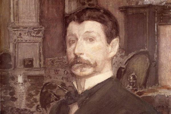 Михаил Александрович Врубель. Автопортрет с жемчужной раковиной