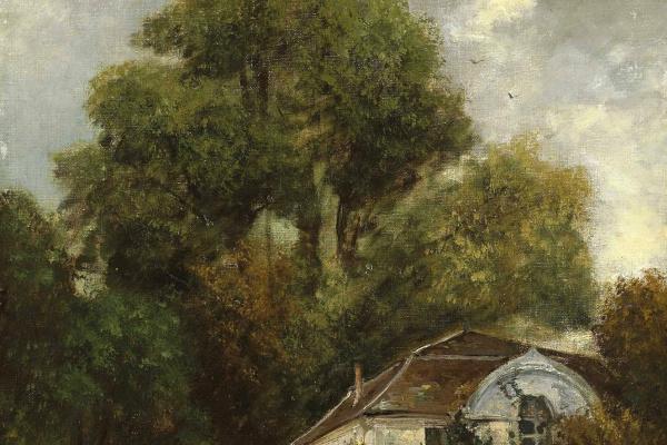 Gustave Courbet. Castle of Beaulieu near Lausanne