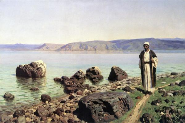 Василий Дмитриевич Поленов. На Тивериадском (Генисаретском) озере. Позднее повторение одноименной картины