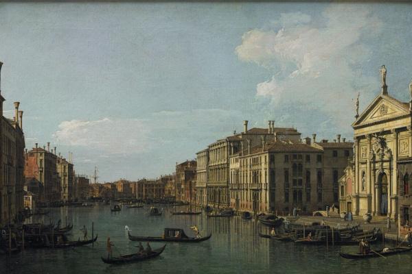 Джованни Антонио Каналь (Каналетто). Гранд-Канал. Венеция. Вид на церковь Сан Стае и Фабрике Нуове ди Риальто